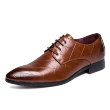 Men's leather dress with pointed toe with oxford shoes