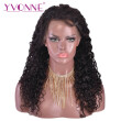 Yvonne Hair 180% Density Super Curly Human Hair Lace Front Wigs For Black Women Natural Color With Baby Hair Around