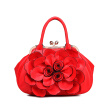 Luxury brand lady flower handbags casual women's leather bag high quality women sweet lady fashion handbags
