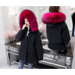 Snow in autumn and winter down jacket female raccoon big fur collar thick in the long coat