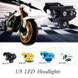 2pcs Motorcycle Headlights U8 LED 12V 125W Motorbike driving spot head light motorbike headlamp led DRL Fog lamp  moto spotlight