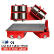 Confined Space Rotating Dollies, Equipment Roller, Load Skates with Castors CRD-8T-SW