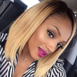 Ombre Lace Front Wig Silky Straight Human Hair Blonde Bob Lace Front Wigs for Black Women 1B/27 Blonde with Dark Roots Baby Hair