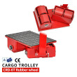 6 Ton Machinery Mover Rollers Dolly Machinery Skates With Polyurethane Wheels CRD-6T-RW