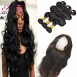Brazilian 360 lace frontal with bundles body wave with closure lace frontal with bundles 3 bundles and frontal closure