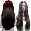 Clymene Hair Long Human Hair U Part Wigs Light Yaki Straight Middle Part Virgin Brazilian UPart Wig For Black Women