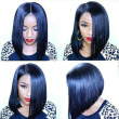 130 Density Human Hair Full Lace Wigs Brazilian Virgin Human Hair Bob Wig For Black Women Straight Bob Cut Wigs