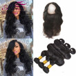 360 lace frontal closure with bundles brazilian wavy 360 frontal with bundles brazilian body wave with closure 4 pcs lot