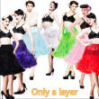 B&N Woman 63cm One Layer Long Petticoat Tulle Pettiskirt Tutu Skirt Rockabilly
