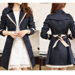 Buenos Ninos Women Double-breasted Trenchcoat  Korean Style Slim Windbreaker