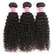 Indian Kinky Curly Virgin Hair Weave 8-26 inche 3 Bundles Unprocessed Human Hair Extensions Natural Black Color #1B Can Be Dye