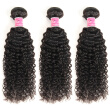 Brazilian Kinky Curly Virgin Hair Weave 3 Bundles Unprocessed Human Hair Extensions Natural Black Color #1B Can Be Dyed