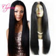 Clymene Hair 130% Density U Part Wigs Virgin Malaysian Hair Unprocessed Long Straight U Part Human Hair Wigs For Black Women