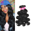 Brazilian Body Wave Virgin Hair 3 Bundles 7A 100% Unprocessed Brazilian Remy Human Hair Weave Extensions Natural Black Color