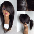 Brazilian  Hair Straight Wigs Glueless Lace Front Human Hair Wigs with Side Bangs Lace Front Wig for black women