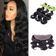 Mink Brazilian Virgin Hair With Closure 3 Bundles Body Wave With Closure Brazilian Body Wave Lace Frontal Closure With Bundles