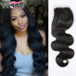 YYONG Hair Products 3 Parte Brazillian Body Wave Closures Cierre brasileño Lace Top Closure Barato Lace closure