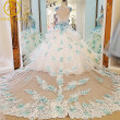 Luxurious crystals Applique Floral wedding dress Expensive bridal Gown robe de mariage vestido de noiva curto 2017 Customize