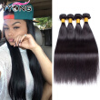 YYONG Hair Products Brazilian Virgin Hair Straight Unprocessed Brazilian Straight Hair 4 Bundles 100% Human Hair