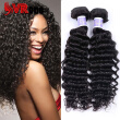 Peruvian Hair Deep Wave Human Virgin Hair 3 Bundles Hair Extensions Free Shipping