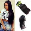 Malaysia 360 Lace Frontal Closure Natural Hairline  Virgin Hair straight hair Lace Band 360 Frontal Closure with straight