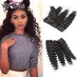 YYONG Hair Company Brazilian Deep Wave 4 Bundles 8-30 Inch For Sales Wet And Wavy Virgin Brazilian Hair 4 Bundles Cheap Human Hair