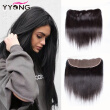8A Peruvian Straight Lace Frontal Closure Bleached Knots 13X4 Human Hair Lace Frontal Closure With Virgin Hair Free Middle 3 Part