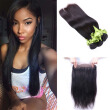 Brazilian 360 Lace Frontal Closure Natural Hairline Brazilian Virgin Hair straight 360 Lace Band Frontal Closure with straight Hai
