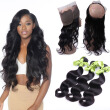 Peruvian 360 Lace Frontal Closure Natural Hairline Peruvian Virgin Hair 360 Body Wave Lace Band Frontal Closure with Baby Hair