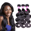 Natural Black Hair Brazilian Virgin Hair Body Wave 3 Bundles Can Be Dyed And Bleached