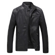 Autumn Winter Coat Men Leather Jacket Zipper Black Motorcycle Coat Outerwear Parka business Casual Jacket