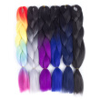 mirra's mirror 6pcs/lot Synthetic Crochet 26in Hair Extensions Ombre Jumbo Braid Hair Two Tone Color Rainbow color Hair