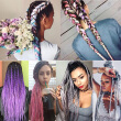 szc Afro Jumbo Braids Hair Extensions 5-pack 2 Tone & 3 Tone Ombre Crochet Braiding Hair High Temperature Kanekalon Synthetic