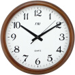 Wooden Wall Clock Quiet Silent Clock Wood Classic Large Roma Numeral Desktop Clock 16 Inch Needle Battery Operated Clock