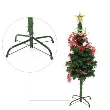 -Lovehome Christmas Tree Stand Green Metal Holder Base Cast Iron Stand 4 Feets Decoration on JD
