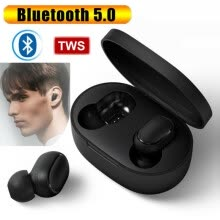 -High-quality In-Ear Earphone Bluetooth 5.0 Wireless TWS Earbuds In-Ear Sports Headphones Automatic Pairing With Charging Case on JD