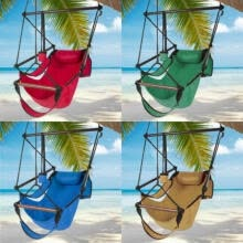 -Chair Hanging Rope Air Deluxe Swing Hammock Outdoor Indoor Porch Patio Yard US on JD