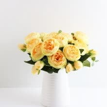 flowers-and-planter-〖Follure〗Korean Style Small Bunch Of Roses Artificial Fower Fake Flowers Home Wedding on JD