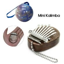 -8 Key Kalimba Mini Portable Thumb Piano Finger Percussion Keyboard Pocket Musical Instrument Christmas Present Toy Pendant on JD