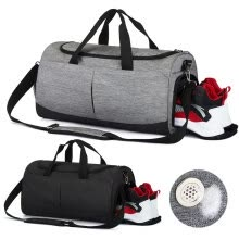 -Sports Gym Bag with Shoes Compartment and Wet Pocket Water Resistant Durable Workout Bag on JD