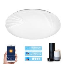 safety-equipment-Smart WIFI Ceiling Light 48W Dimmable LEDs Cloud Intelligence APP Remote Control Timing Function Stepless Adjusted Lighting 390MM on JD