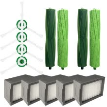 -Side Brush&Hepa Filters&Bristle Brush for iRobot Roomba i7 i7+/i7 Plus E5 E6 E7 on JD