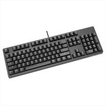 ZUEN Keyboard Mechanical Keyboard Comfortable Round Button Retro Mechanical Shaft Body Backlight Esports Home Black