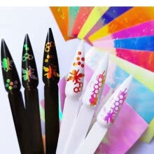 -Nomeni Nail Art Bees Pattern Candy Color Nail Adhesive Sticky Magic Nail Sticker 13PCS on JD