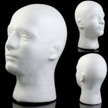 mannequin-head-Male Mannequin Styrofoam Foam Manikin Head Model Wig Glasses Hat Display Stand on JD