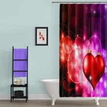 -Waterproof Polyester Fabric Beach Printing & 12 Hooks Bathroom Shower Curtain on JD