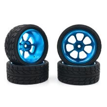 -For Wltoys 1:18 A959-B A979-B A959 A969 Alloy Rims and Tires RC Car Wheels 4pcs on JD