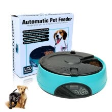 pet-feeding-6 Meals LCD Automatic Pet Feeder Dog Automatic Feeders Dog Feeding Machine Food Tray Easy to clean dog cat feeder 330ml X 6  tray on JD