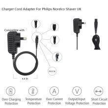 -15V 0.36A Power Razor Charger Cord Adapter For Philips Norelco Shaver HQ8505 UK on JD