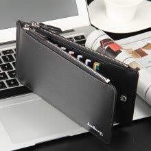 -Men's Business Style Leather Card Holder Billfold Purse Long Wallet on JD